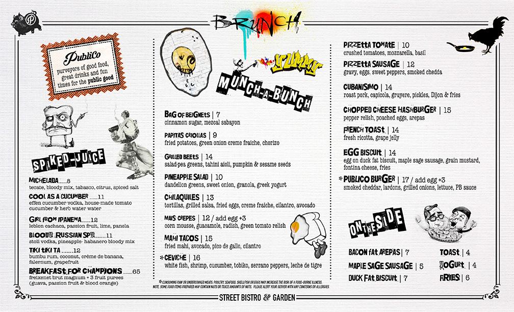 Publico brunch menu