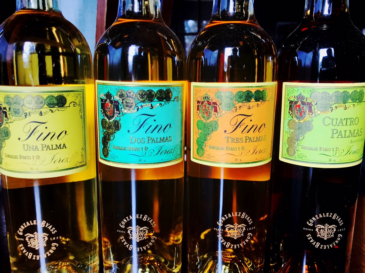 Gonzalez Byass sherries offered as a flight at Tres Gatos