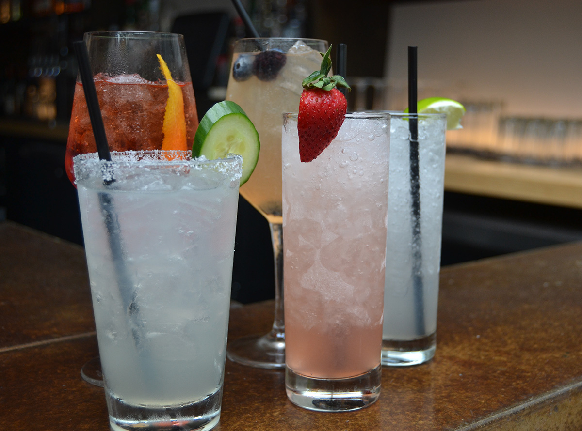Polar Seltzer cocktails at Viale Cambridge