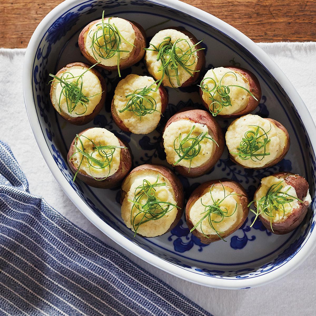 baked stuffed new potatoes