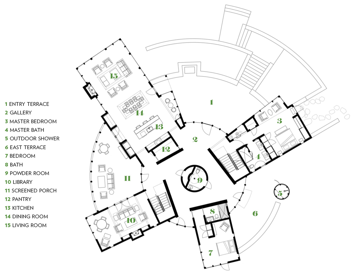 circular house marthas vineyard floor plan