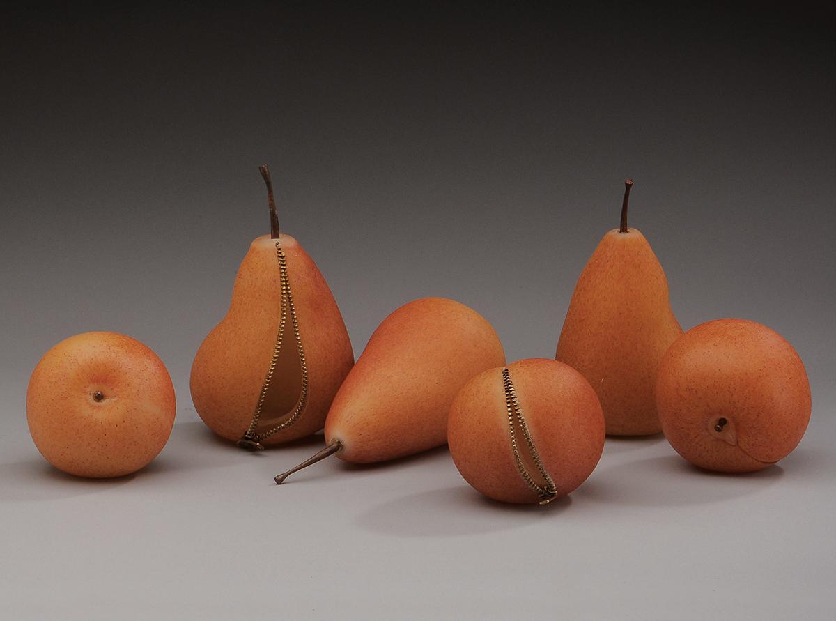 glass fruit sculptures stephanie chubbuck