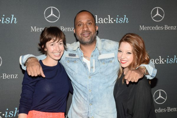 """BLACK-ISH - The cast and crew of ABC's critically acclaimed hit comedy """"black-ish"""" celebrate the end of season one at a wrap party sponsored by Mercedes-Benz on Thursday, March 19th at Beso Hollywood in Los Angeles. """"black-ish"""" airs Wednesdays at 9:30 p.m. ET/PT on ABC. (ABC/Matt Petit) ALEXIS KOCZARA, KENYA BARRIS (EXECUTIVE PRODUCER), AMANDA DOYLE"""