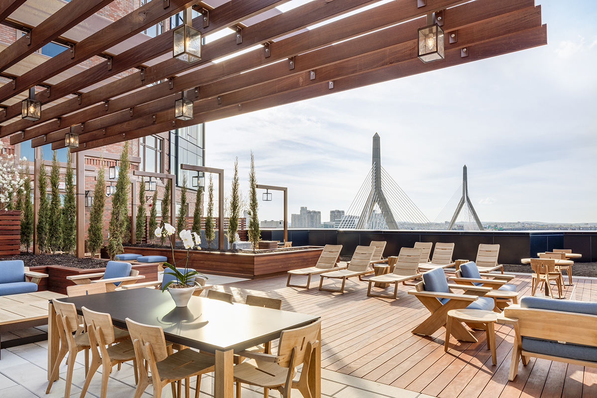 Residential buildings in boston with amazing roof decks