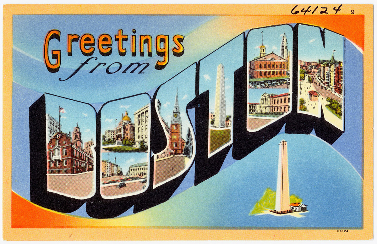 15 vividly vintage postcards of boston