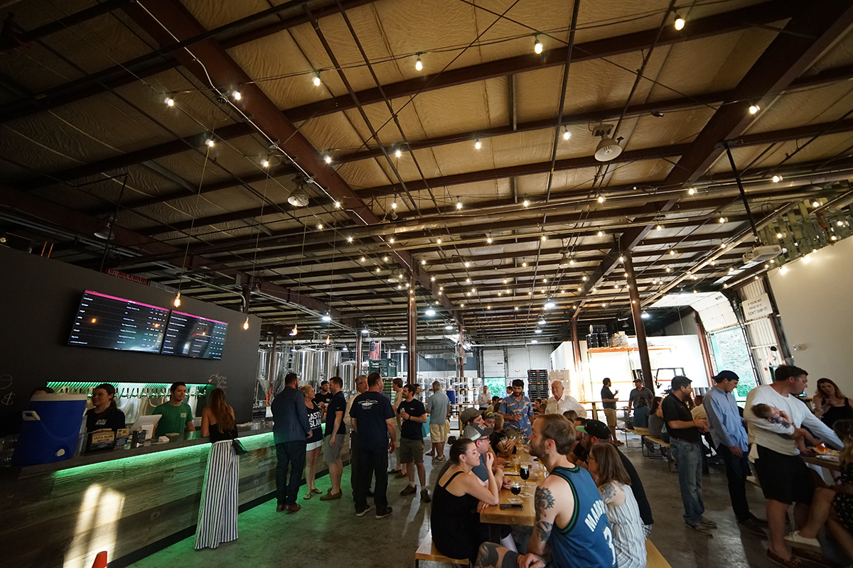 The Castle Island Brewing taproom