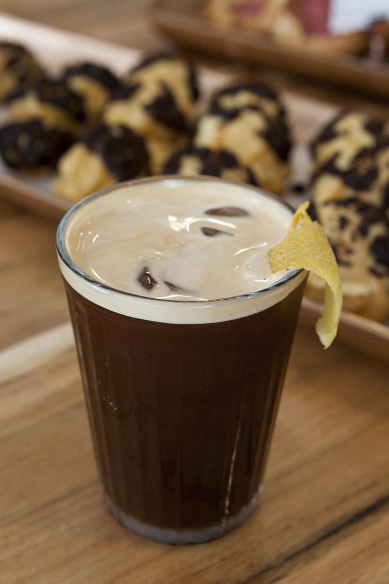 The espresso fizz is the signature drink at Noca Provisions