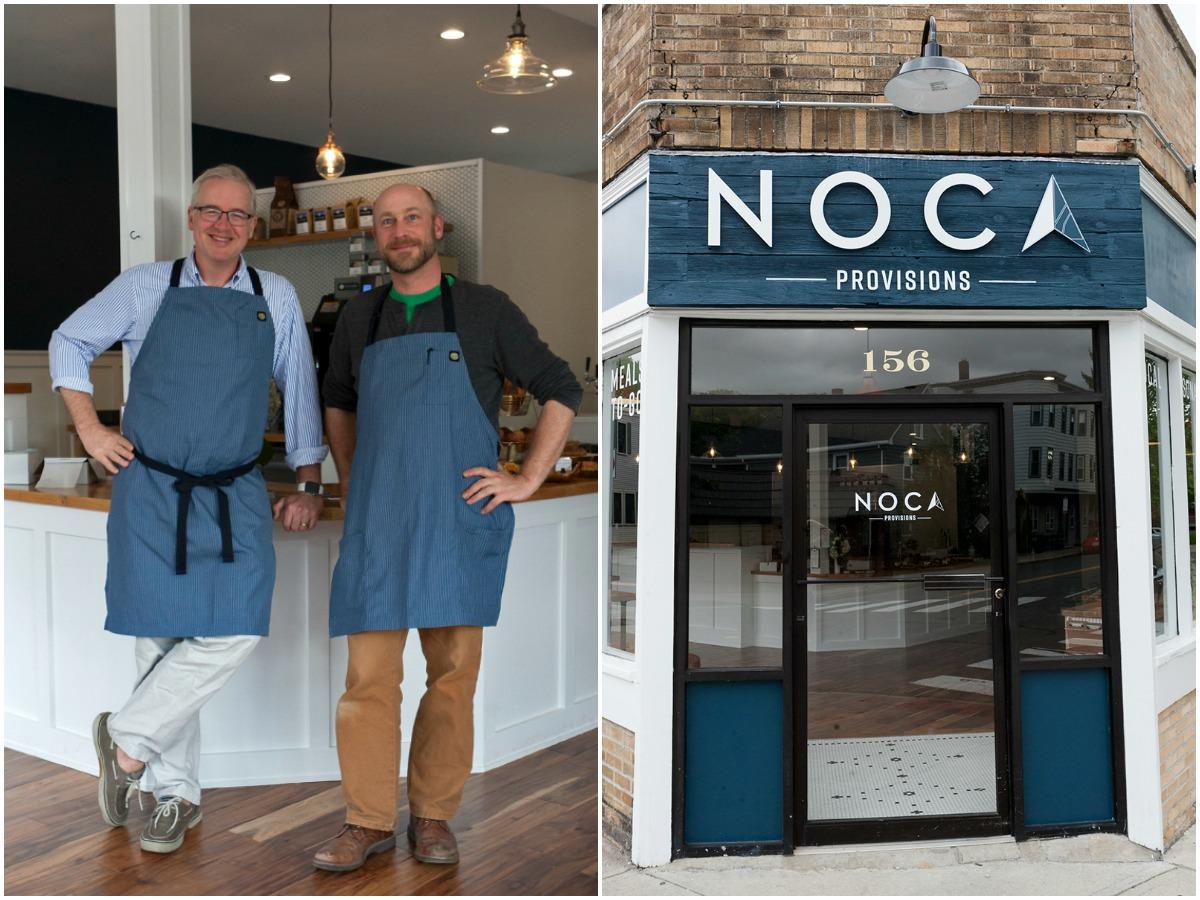 """Robert Harris (L) and David """"Woody"""" Wood of Noca Provisions"""
