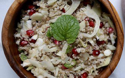 Cold quinoa salad