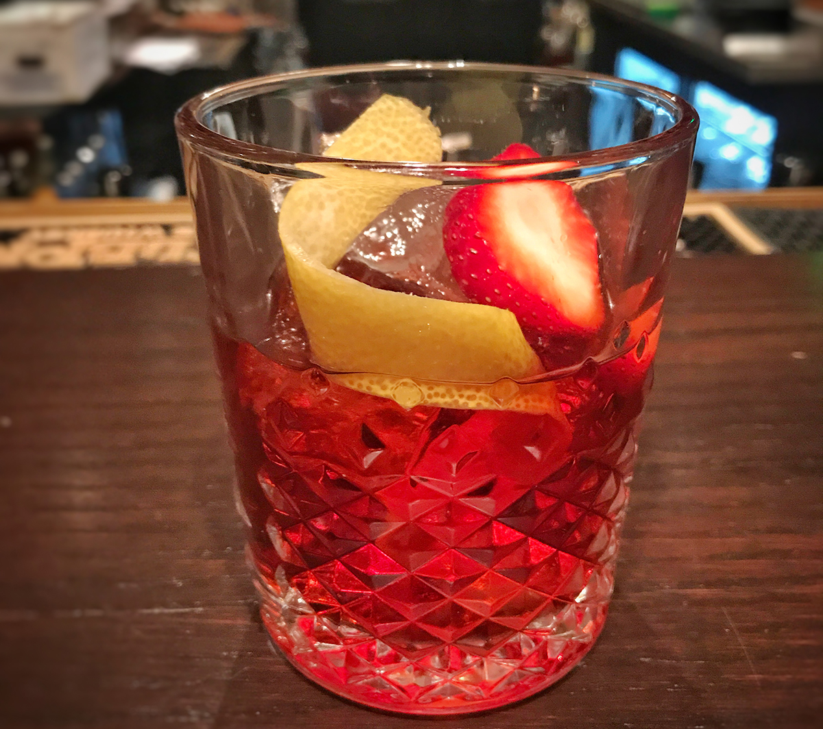 A strawberry-infused negroni is on special at Saloon during Negroni Week 2017