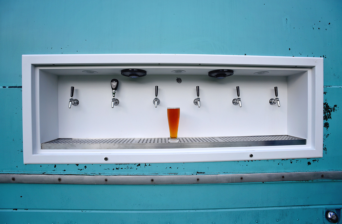 A pint poured from Tapped Beer Truck