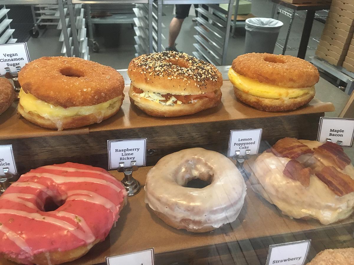 Doughnut breakfast sandwiches at Union Square Donuts