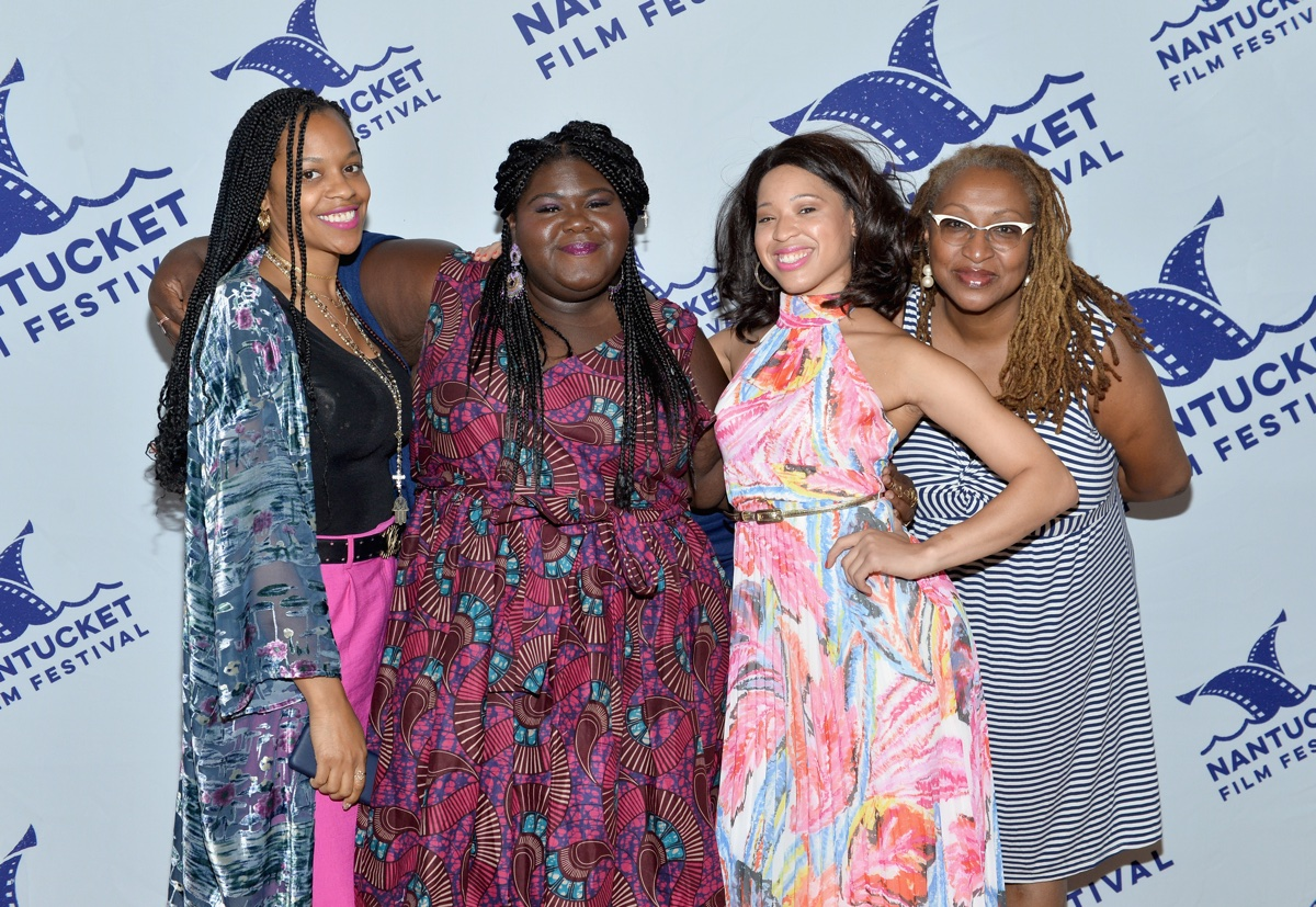Gabourey Sidibe and friends at the Nantucket Film Festival