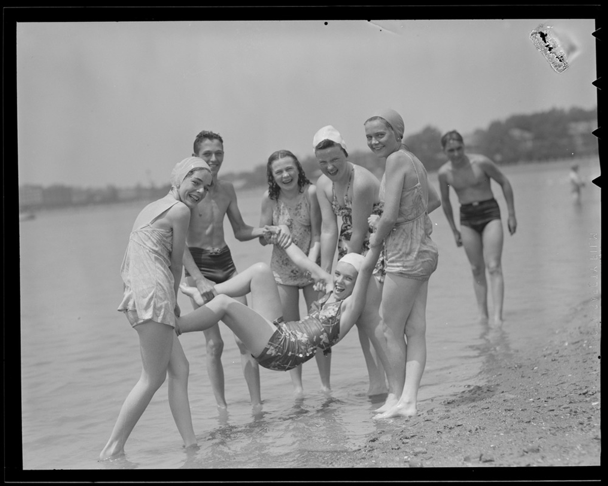 7194252ae8db Children playing at Malibu Beach in Dorchester / Courtesy of the Leslie  Jones Collection, Boston Public Library