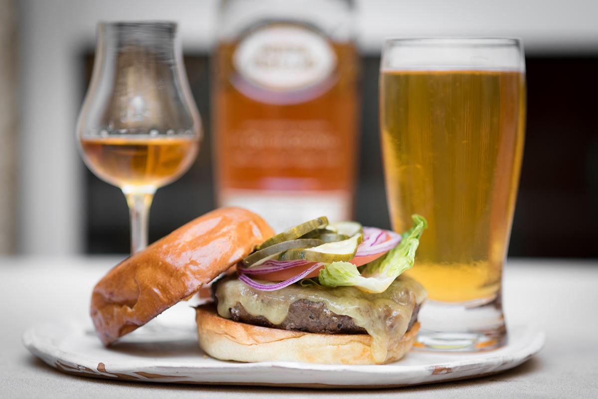 Bambara Burger, Brandy, and Beer special