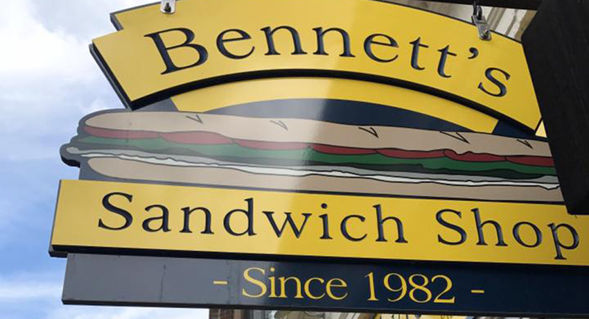 Bennett's Sandwich Shop sign Boston