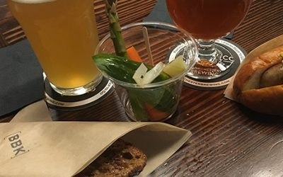 Brato Brewhouse + Kitchen brewed a beer at Dorchester Brewing Co. and served sandwiches there in May