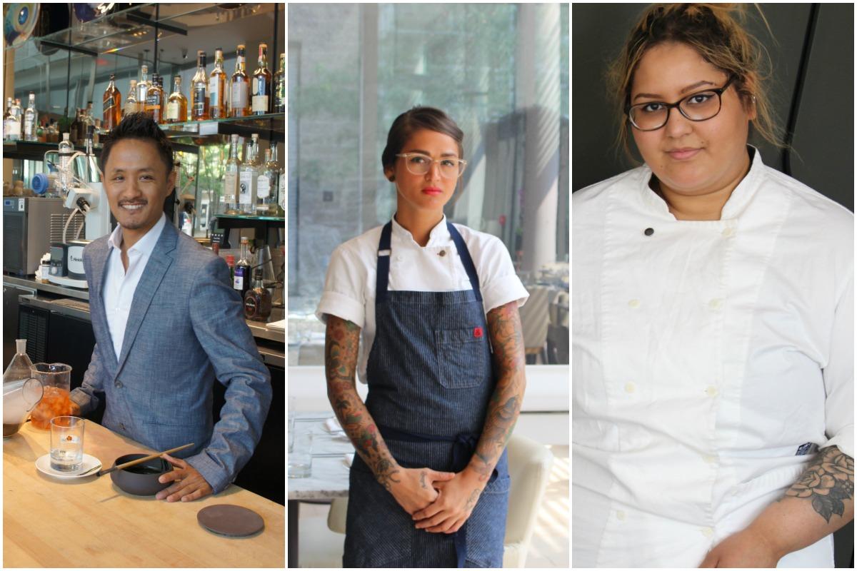 Café ArtScience bar director Tenzin Samdo, executive chef Carolina Curtin, Pastry chef Giselle Miller