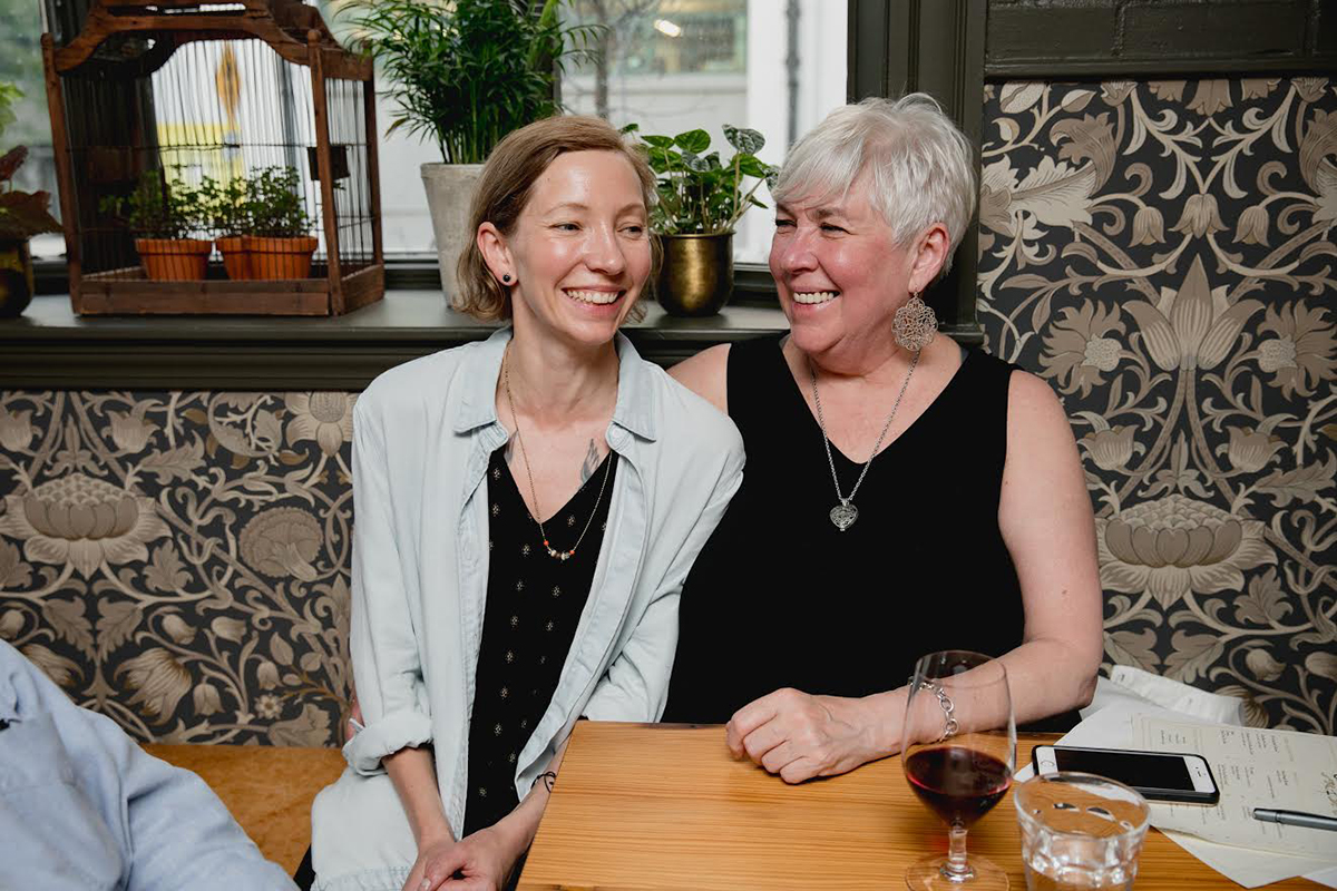 Café du Pays co-owner Heather Mojer (left) and her mother, Karen Lofgren, who was a big inspiration toward the French-Canadian concept