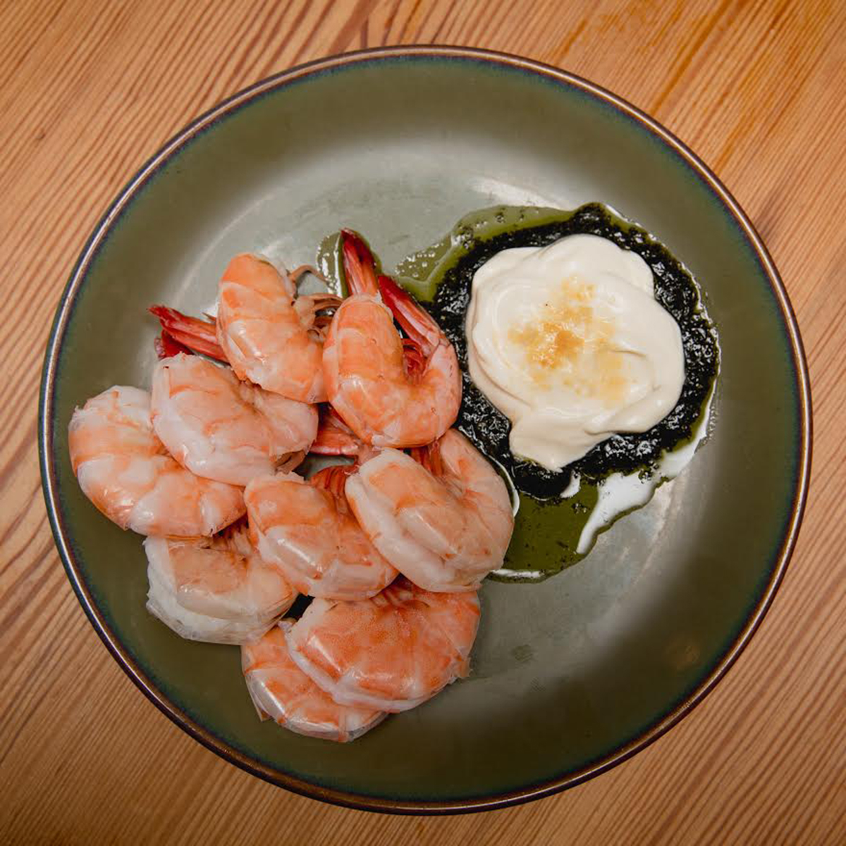 Northern shrimp at Café du Pays