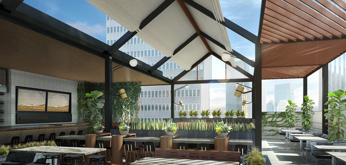 Earls Kitchen + Bar will have a roof deck patio at the Prudential Center