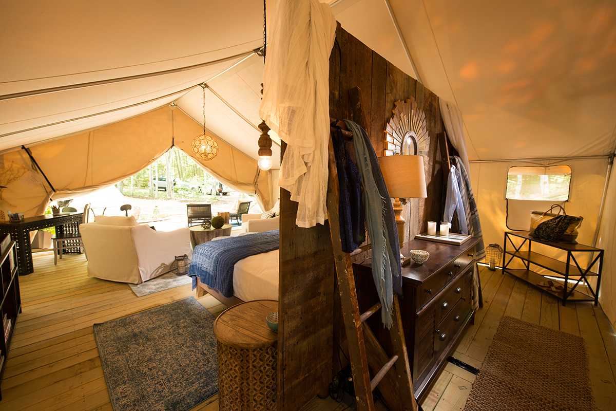 sandy pines maine glamping