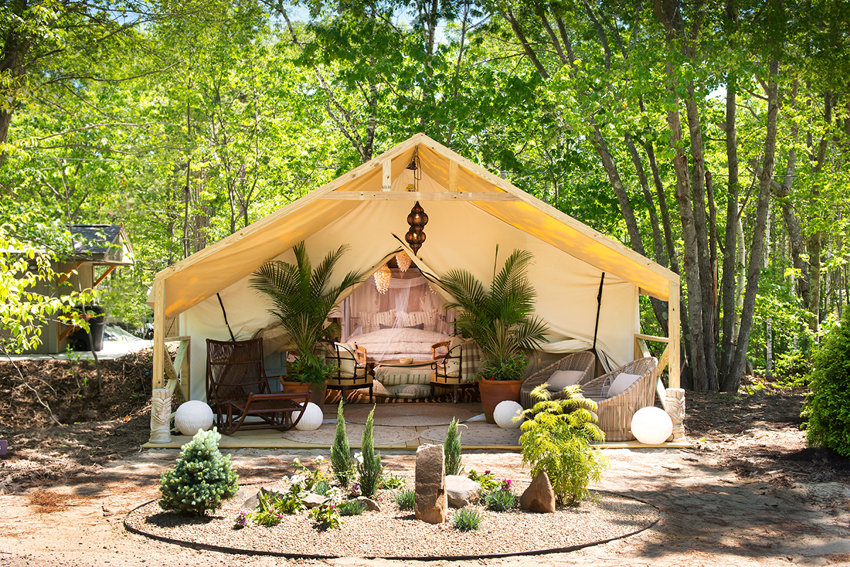 sandy pines maine gl&ing & Maineu0027s New Glamping Tents Are So Darn Pretty u2013 Boston Magazine