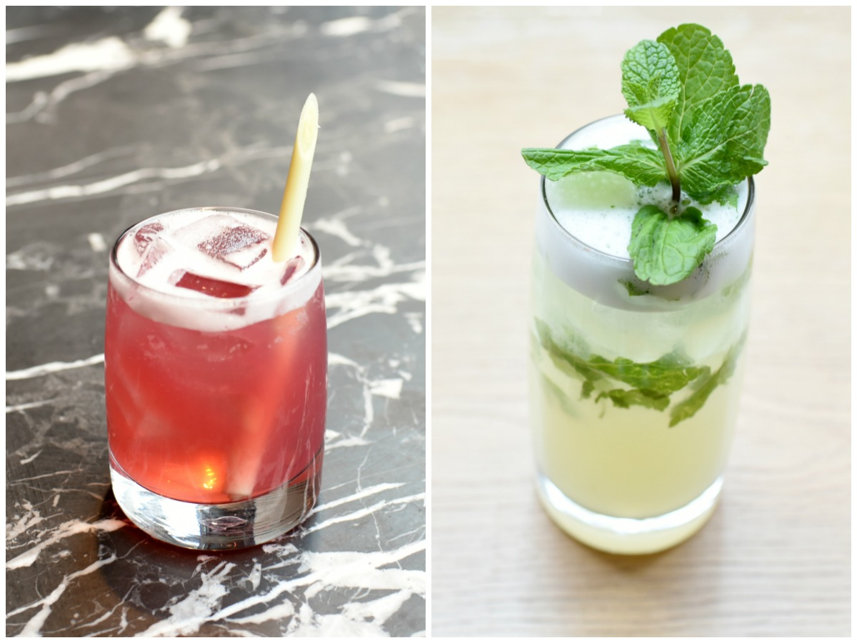 Ume Cosmopolitan (left) and Yuzu Mojito at Wagamama. A Seaport location, opening August 2, will have the company's first cocktail program in Boston