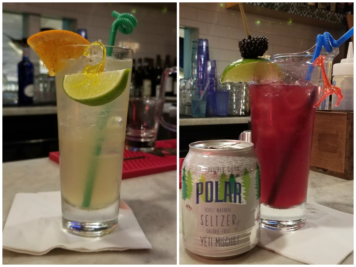 Polar seltzer cocktails