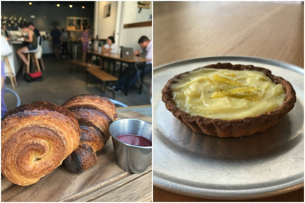 Longfellows / Bondir's Comte Cheese and Plain Croissants / Lemon Curd Tar