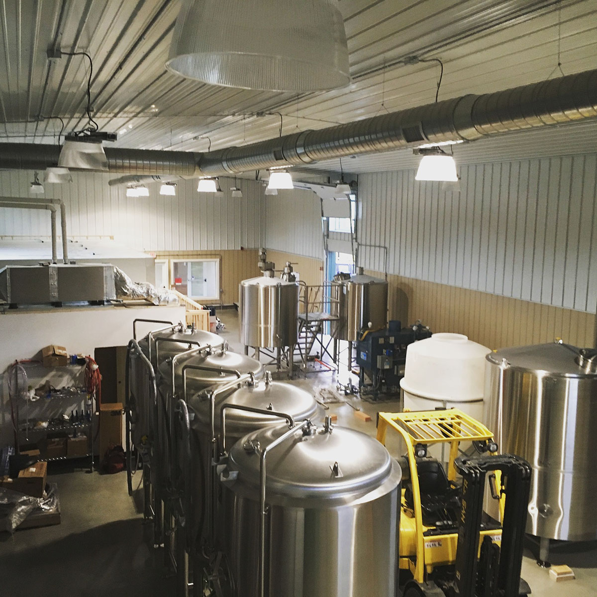 The brewhouse floor at Untold Brewing in Scituate