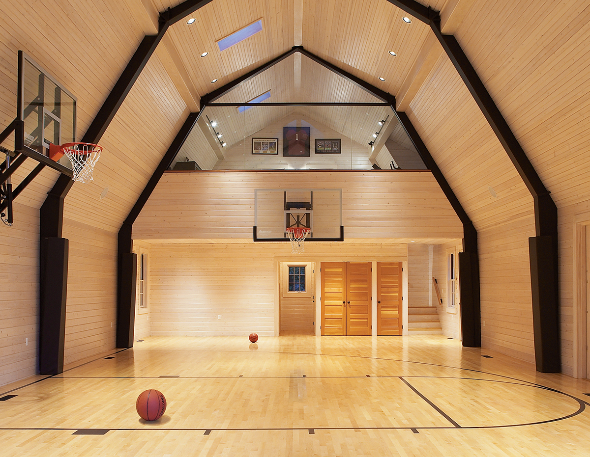 basketball court barn