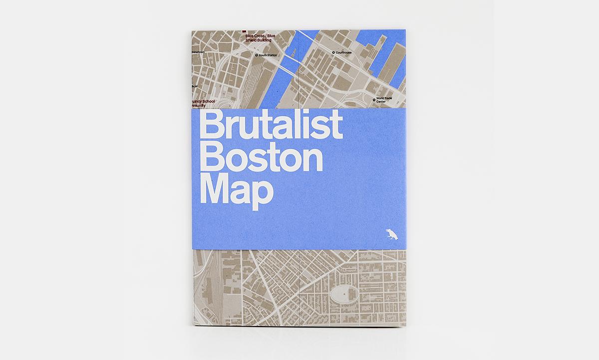 brutalist map boston
