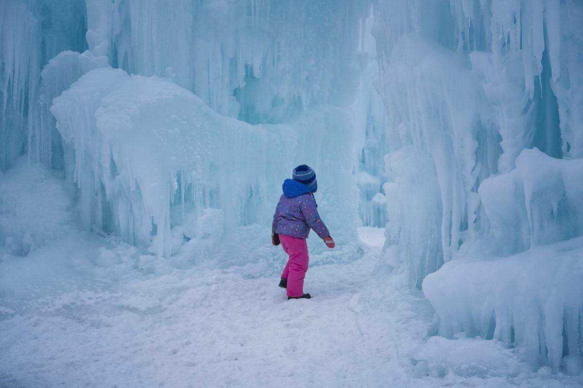 A child walks into a maze of stalactites. / Photo provided