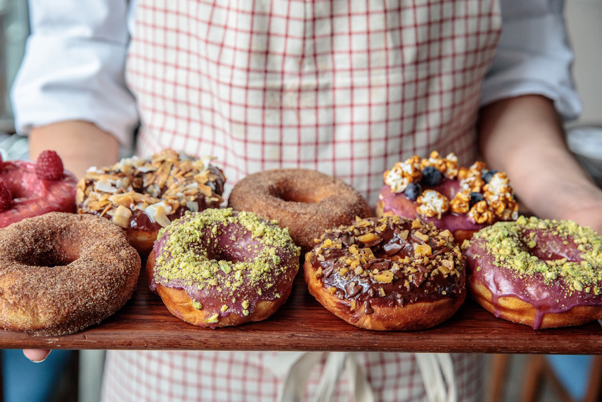 Pastry chef Christina Larson makes doughnuts as Basic Batch Donuts, which pops up at Bar Mezzana this month