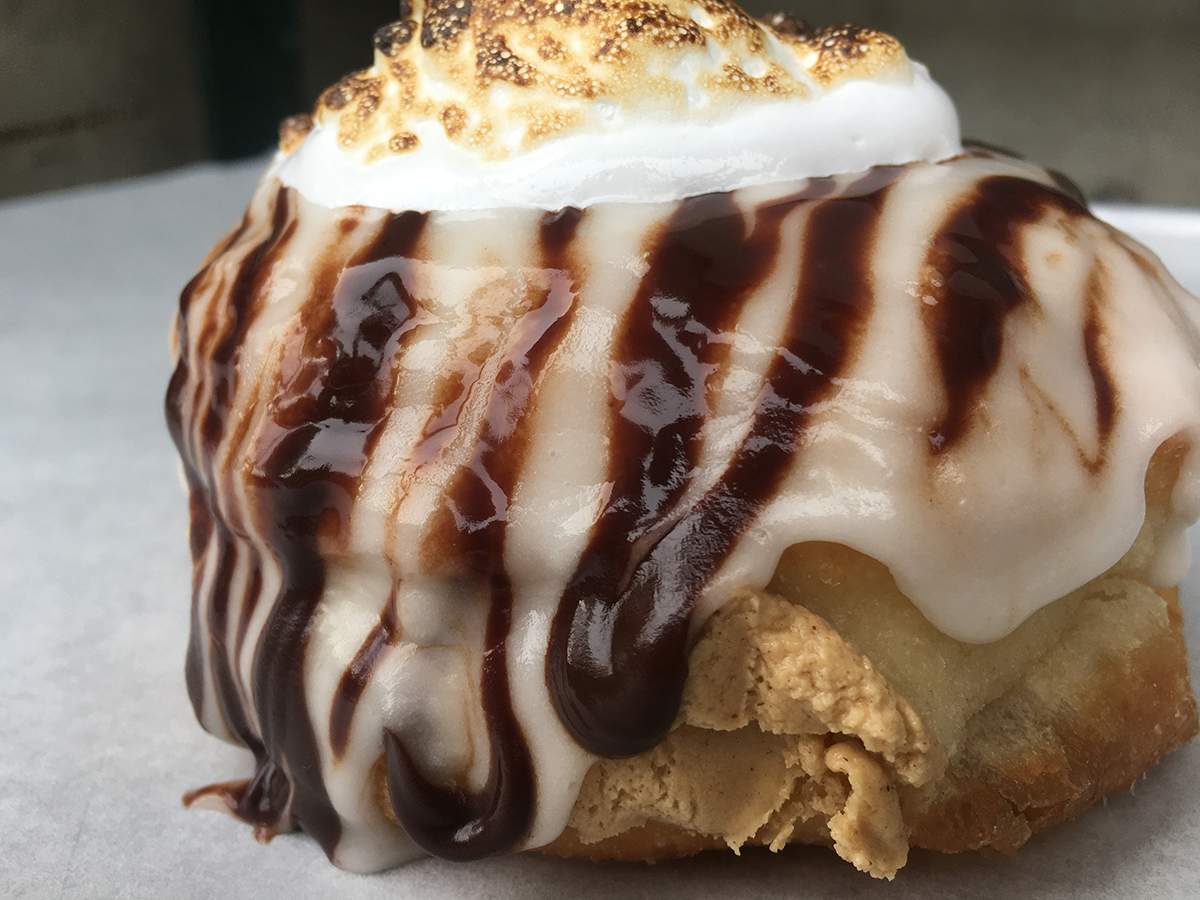 Blackbird Doughnuts has a Fluff and peanut butter doughnut specials for Fluff Centennial weekend only, inspired by sister restaurant the Gallows' Stoner's Delight dessert