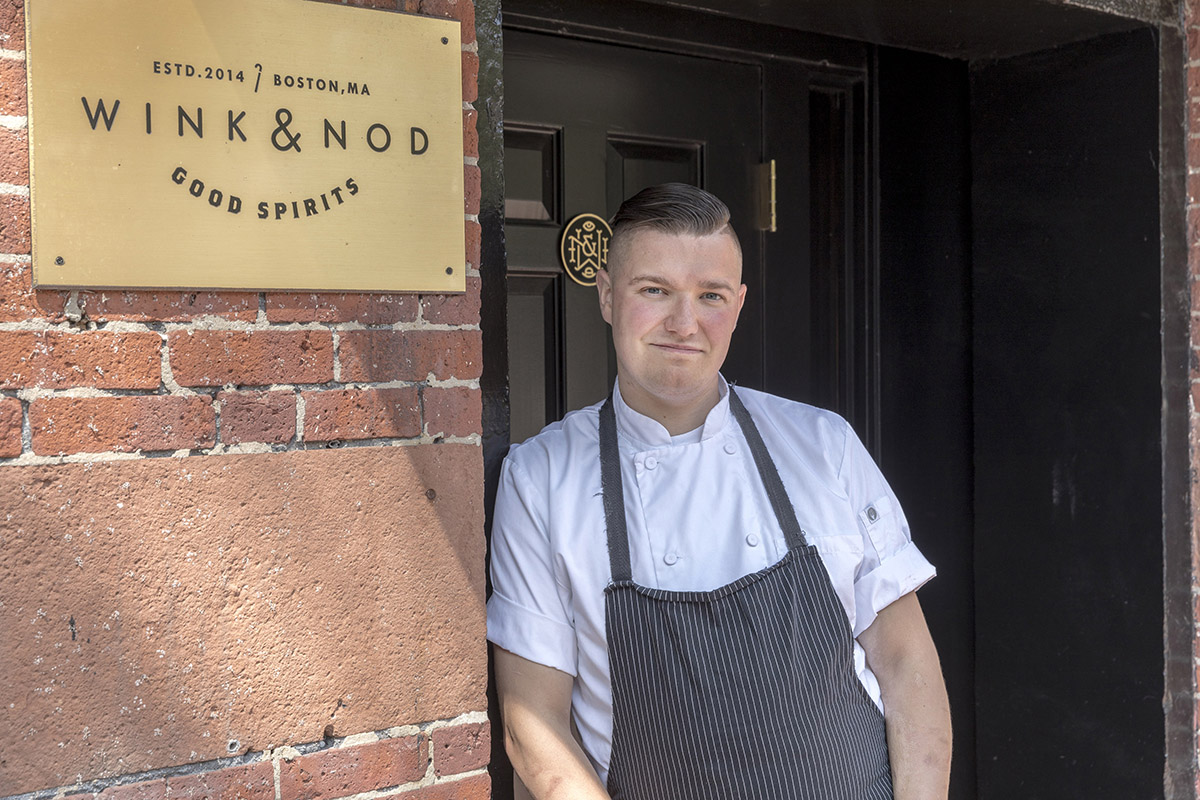 Chef Aaron Lhamon of Pareja at Wink & Nod