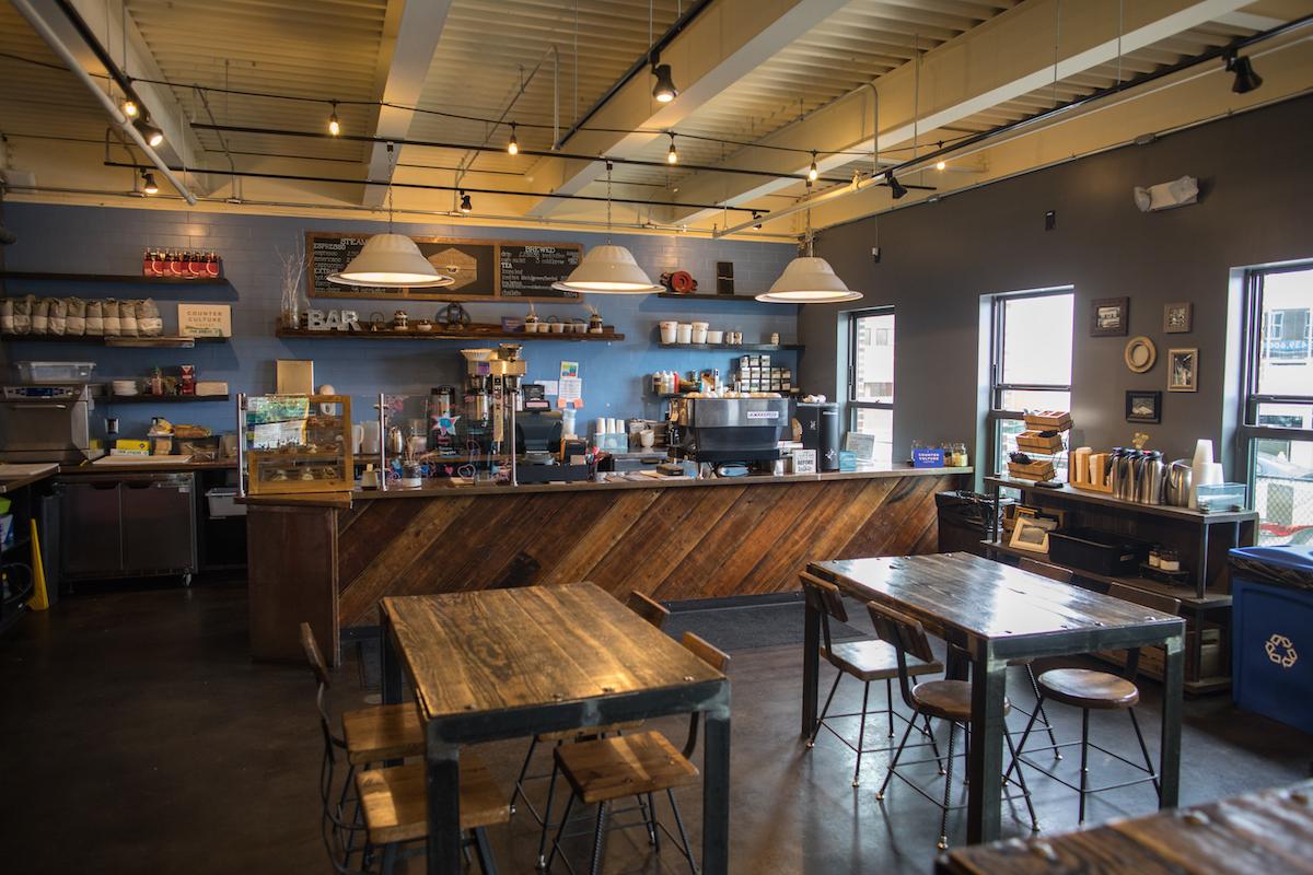 The interior of Coppersmith Café