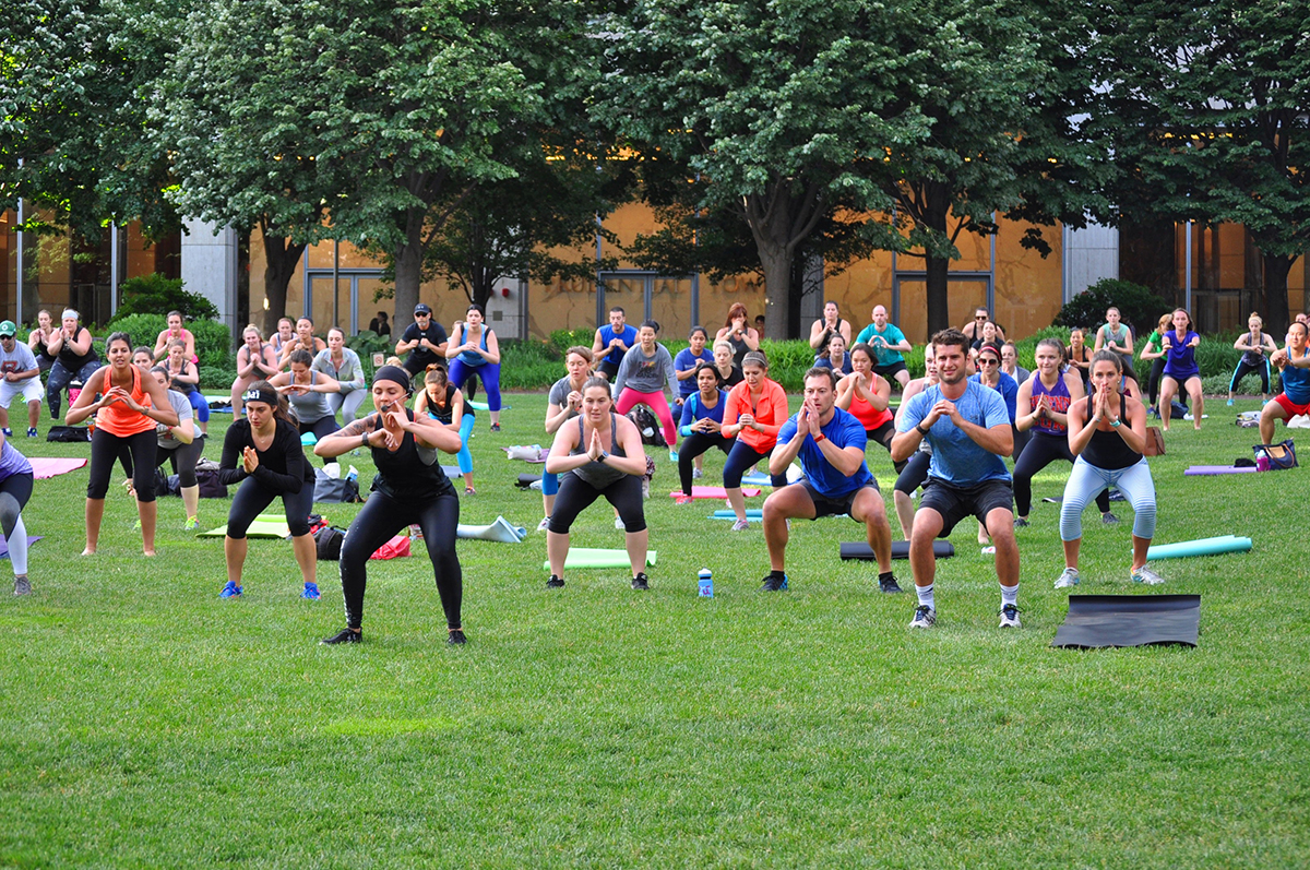 FIT ON THE GARDEN/PHOTO BY UNDER ARMOUR BOSTON