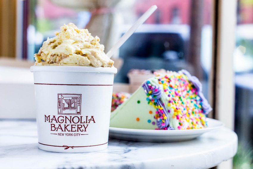Magnolia Bakery's classic banana pudding and cake