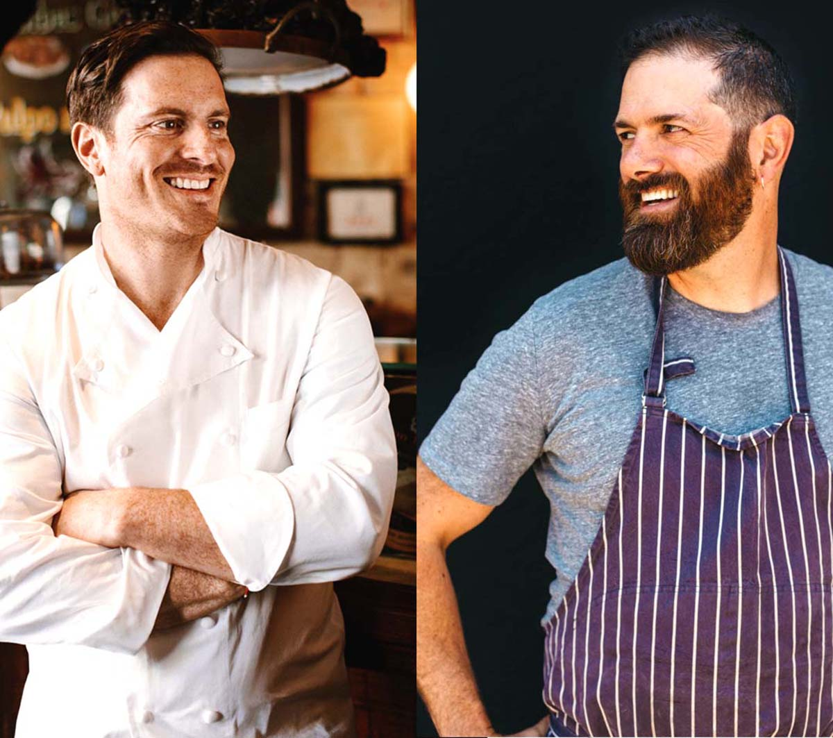 Chefs Seamus Mullen (Left) and Tony Maws