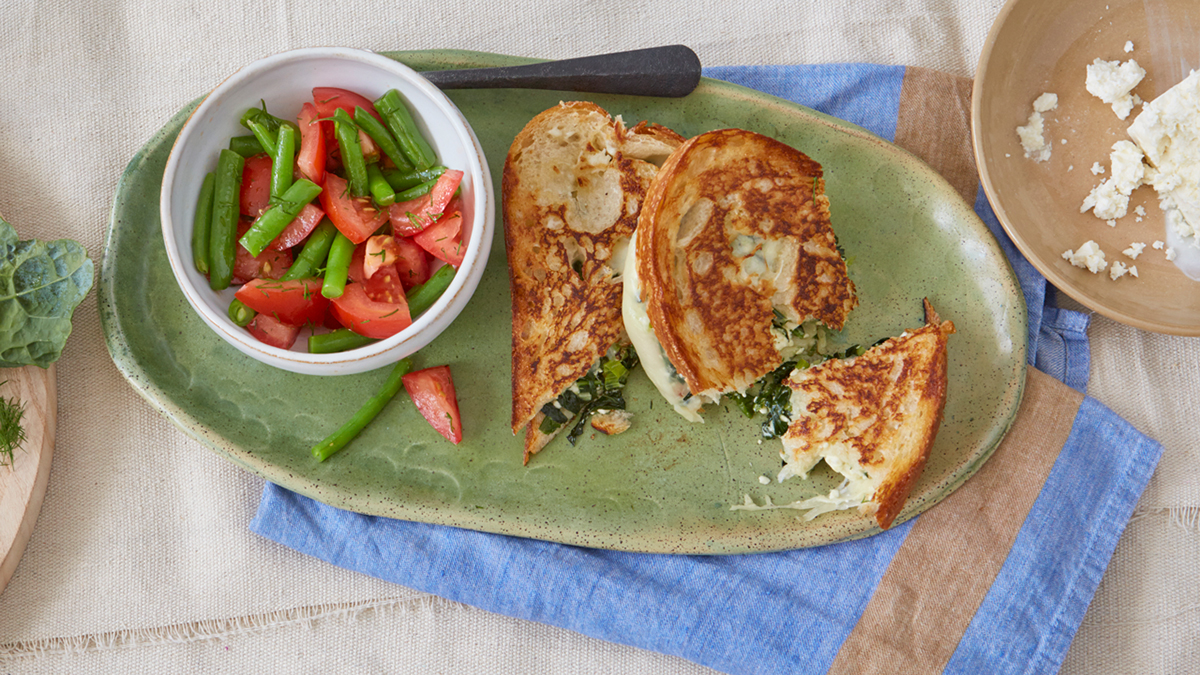 Spanikopita Grilled Cheese