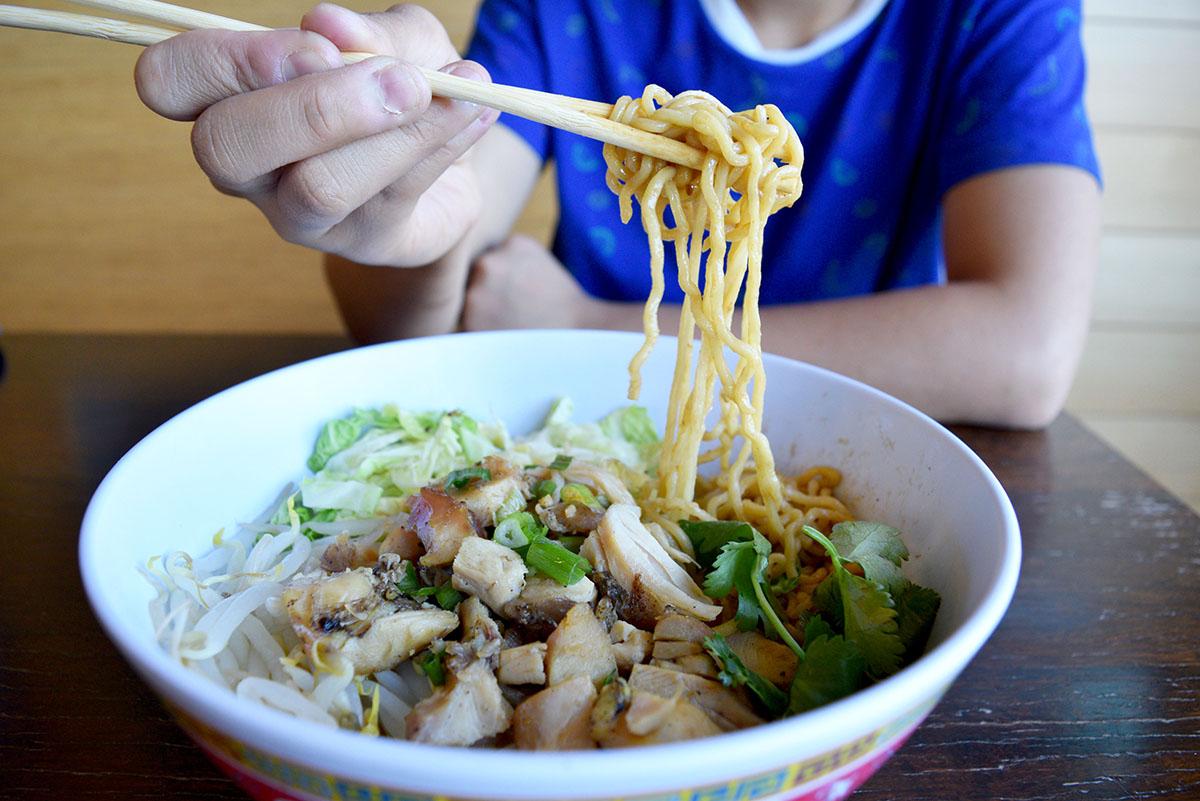 The dan dan noodle bowl is one of several new menu items at Bon Me in East Cambridge