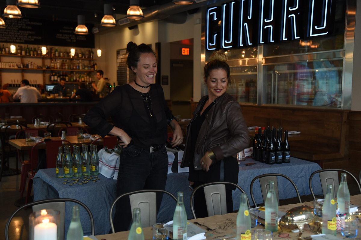 (L to R) East Boston Oysters creative coordinator Grace Ghazey and founder Alexis Cervasio at a 2016 pop-up