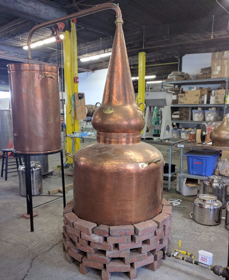See Short Path Distillery's cauldron—er, whiskey still—during a Halloween block party on Friday