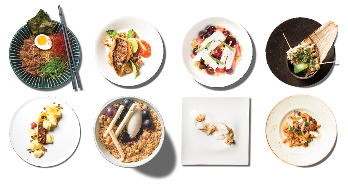 Plates from Boston magazine Top New Restaurants 2017