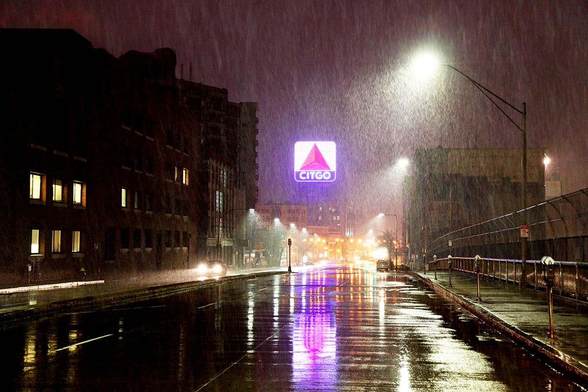 The Citgo sign in the rain