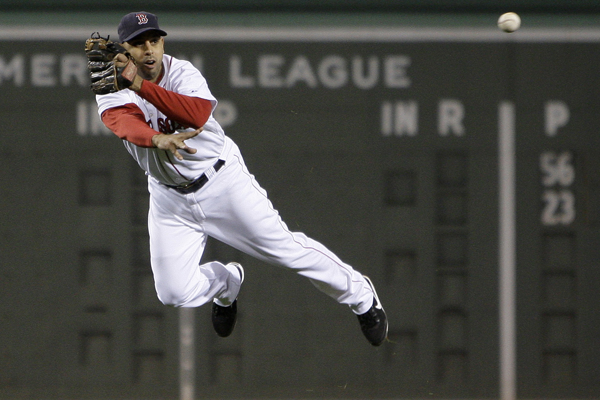 Alex Cora as a Red Sox player