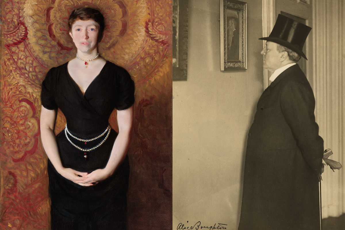 Portraits of Isabella Gardner and Henry James