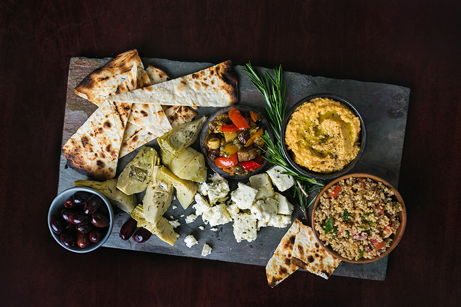 Mediterranean Platter at 75 on Courthouse Square